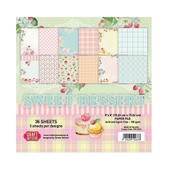 Craft & You - Sweet Dessert 6x6 Paper Pad