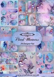 Craft Box - Floral Memories Collection - A4 Designer Pad