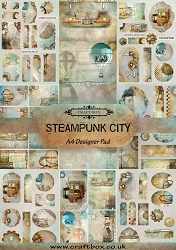 Craft Box - Steampunk City Collection - A4 Designer Pad