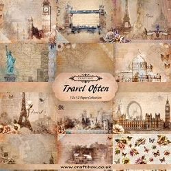 Craft Box - Travel Often Collection - Paper Kit