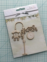 Craft Box - SnipArt Chipboard - Lantern with Clock