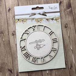 Craft Box - SnipArt Chipboard - Large Clock