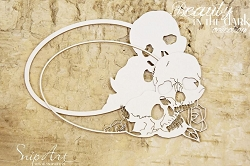 Craft Box - SnipArt Chipboard - Oval Skull Frames