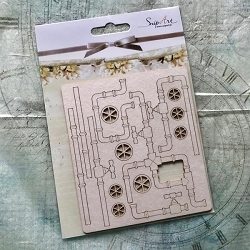 Craft Box - SnipArt Chipboard - Pipes