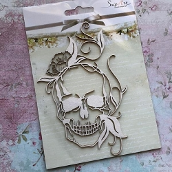 Craft Box - SnipArt Chipboard - Skull & Vines