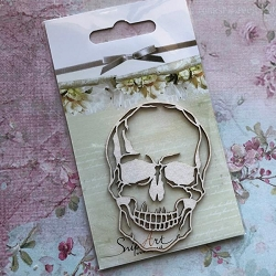 Craft Box - SnipArt Chipboard - Small Skull