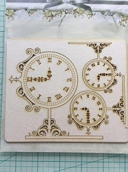 Craft Box - SnipArt Chipboard - Street Clocks
