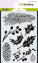 Craft Emotions - A6 Stencil - Christmas Florals