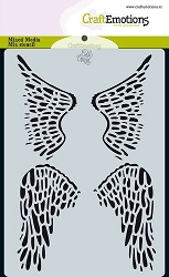 Craft Emotions - A6 Stencil - Wings