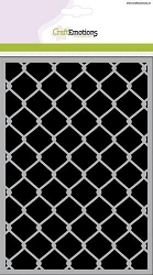 Craft Emotions - A5 Stencil - Chain Link Fence