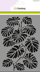 Craft Emotions - A5 Stencil - Monstera Leaves