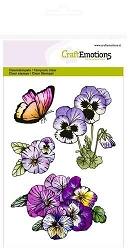 Craft Emotions - clear stamp - Violets 1