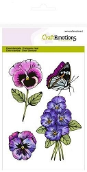 Craft Emotions - clear stamp - Violets 2