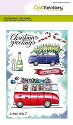 Craft Emotions - clear stamp - Christmas Cars 2