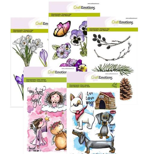 Craft Emotions - New Clear stamps from The Netherlands!!