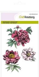 Craft Emotions - clear stamp - Peonies