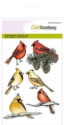 Craft Emotions - clear stamp - Cardinal Birds