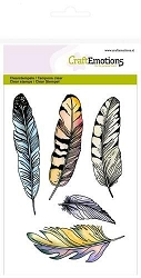 Craft Emotions - clear stamp - Feathers