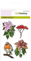 Craft Emotions - clear stamp - Poinsettia