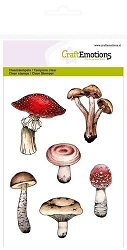 Craft Emotions - clear stamp - Mushrooms
