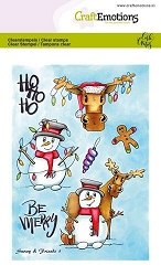 Craft Emotions - clear stamp - Snowy & Friends 1