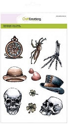 Craft Emotions - clear stamp - Rustic Art Lovely Skeletal