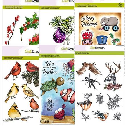 Craft Emotions - Clear stamps from The Netherlands!!