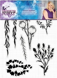 Crafter's Companion - Enchanted Forest Collection by Sara Davies - Garden Greenery Clear Stamps