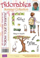 Adorables - Summer Collection - Unmounted Rubber Stamp Set - Follow Your Dreams