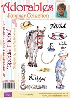 Adorables - Summer Collection - Unmounted Rubber Stamp Set - Special Friend