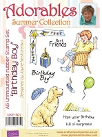 Adorables - Summer Collection - Unmounted Rubber Stamp Set - Birthday Boy