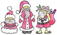 Stamp-It Australia - Holiday Collection - Worldly Santas