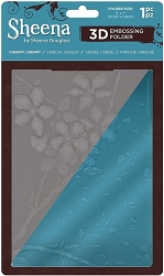 Crafter's Companion - 3D Embossing Folder by Sheena Douglass - Cherry, Cherry