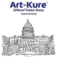 Art-Kure EZMount Stamp - by Mike Goss - US Landmarks Capitol Building