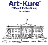 Art-Kure EZMount Stamp - by Mike Goss - US Landmarks White House