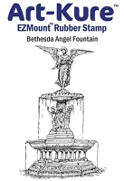 Art-Kure EZMount Stamp - by Mike Goss - US Landmarks Bethesda Angel Fountain