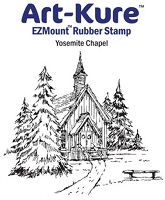 Art-Kure EZMount Stamp - by Mike Goss - US Landmarks Yosemite Chapel