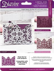 Crafter's Companion - Die'Sire Create-a-Card Cut On Edge die - Traditional Lace
