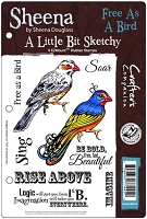 Crafter's Companion - Sheena EZ Mount Stamp - A Little Bit Sketchy - Free As A Bird by Sheena Douglass