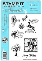 Stamp-It EZ Mount Rubber Stamp - Believe