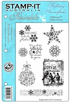 Stamp-It EZ Mount Rubber Stamp - Falling Snowflake