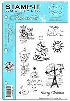 Stamp-It EZ Mount Rubber Stamp - Joy & Spirit