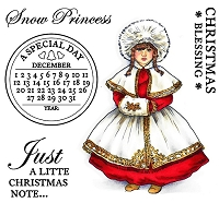 Paintbox Poppets  by Christine Haworth - Cling Stamp - Snow Princess