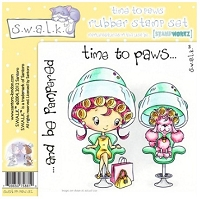 S.W.A.L.K. Unmounted Rubber Stamp Set - Pawfect Pals EZMount - Time to Paws