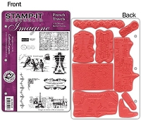 Stamp-It Australia - EZ Mount Cling Stamp Set - French Travel Set 66