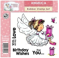 Angelica & Friends Collection - EZMount Cling Stamp Set - Angelica