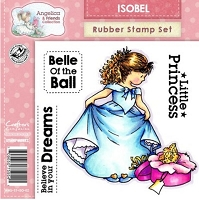 Angelica & Friends Collection - EZMount Cling Stamp Set - Isobel