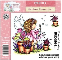 Angelica & Friends Collection - EZMount Cling Stamp Set - Felicity
