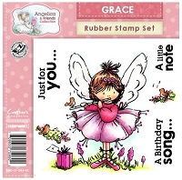 Angelica & Friends Collection - EZMount Cling Stamp Set - Grace