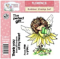 Angelica & Friends Collection - EZMount Cling Stamp Set - Florence